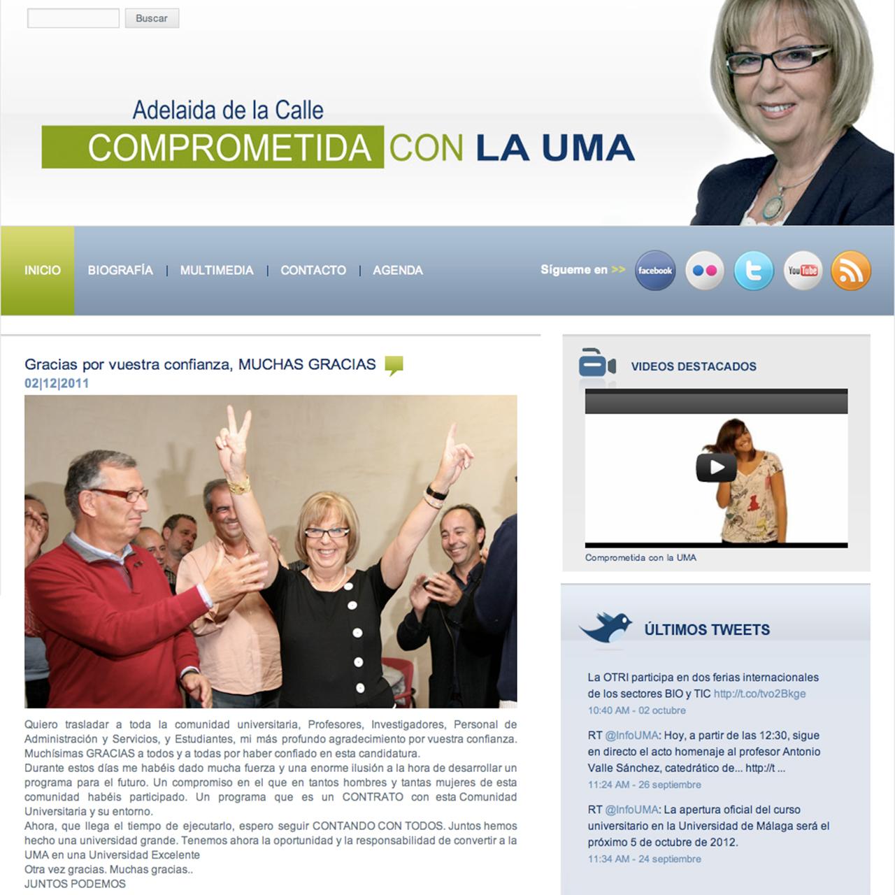 Adelaida de la Calle (Candidatura a Rectora de la Universidad de Málaga)