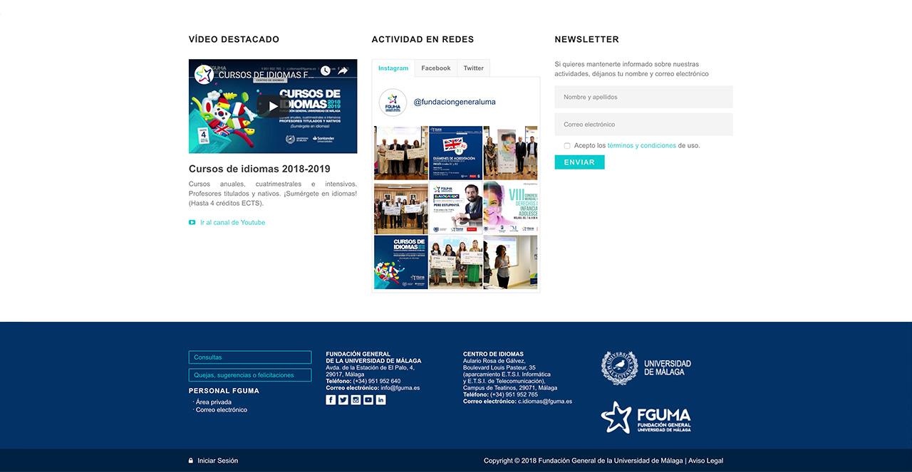 Web Fundación General de la Universidad de Málaga