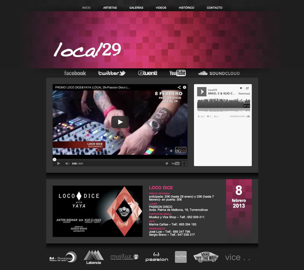 Página web Local29