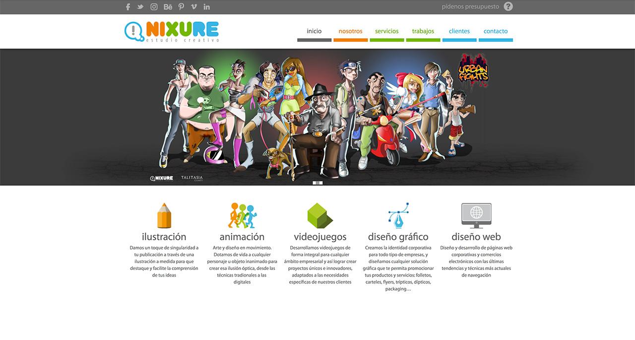 Web Nixure (Estudio Creativo)